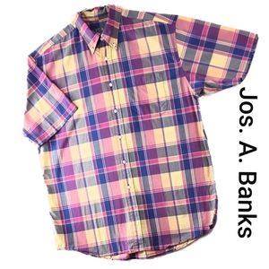 Jos. A. Banks Men's Button Front Short Sleeve